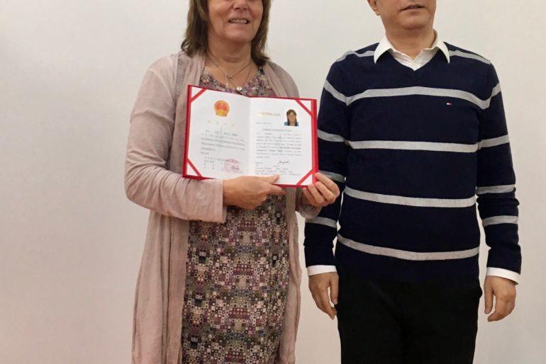 Vibeke på akupunktur studietur i Kina