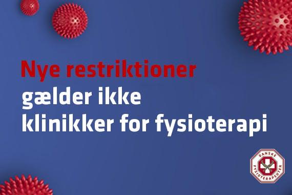 Vi har åbent – Fysioterapiklinikker er IKKE omfattet af nedlukning !